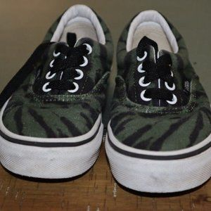 Vans Tiger Print Lace Up Sneakers